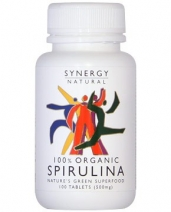 Synergy Naturals - Spirulina Organic 100 tablets