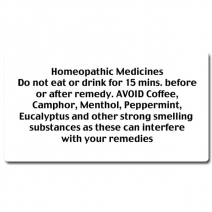 B1 - Homeopathic Medicine Instruction Labels