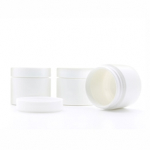 50ml White Plastic Jar with Lid