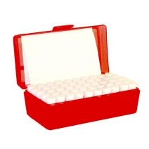 Plastic Box WITH 50 x S1SC vials + label F