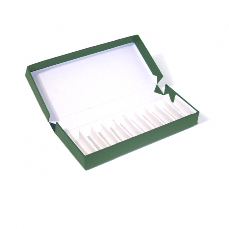 Green Remedy Box to Hold 10x 2g Vials