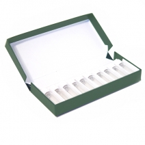 Green Cardboard Box with 10 x 2 gram Screw-Cap Vials