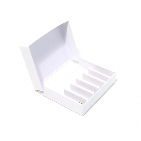 White Cardboard Box For 2g Vials