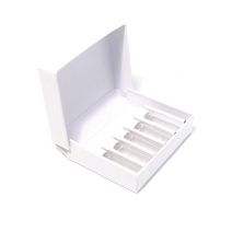 White Cardboard Box with 5x 2g Screw Cap Vials
