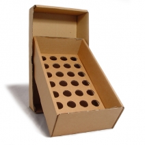 Brown Storage Box with 24mm Holed Platform