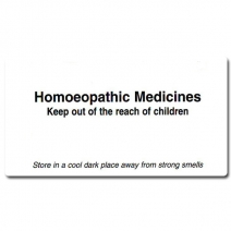Large Homeopathic Medicine Labels A2L