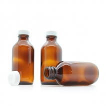 100ml screw cap bottle, amber moulded glass